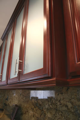 maple artesian rosewood stain - Rosewood Kitchen Cabinets