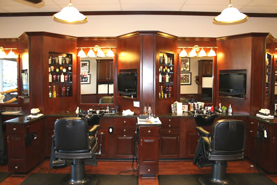 Barbershops And Salons Custom Wood Cabinets Cabinetry