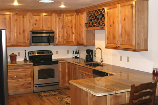Knotty Alder Custom Wood Cabinets, Cabinetry